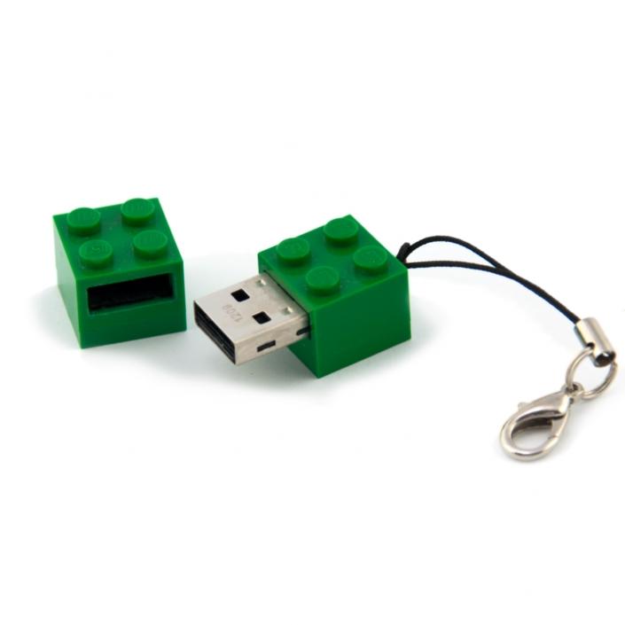 Zdjęcie produktu pendrive zielony klocek lego