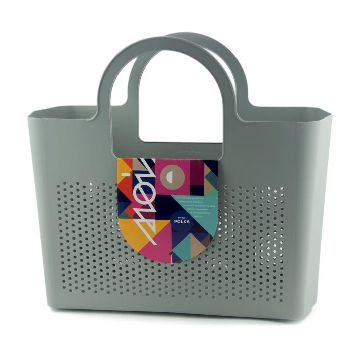 Zdjęcie produktu koszyk zakupowy plastik szary