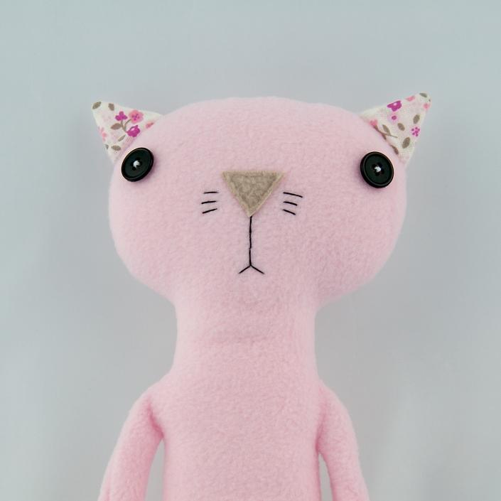 Zdjęcie produktu różowy kotek z polaru przytulanka
