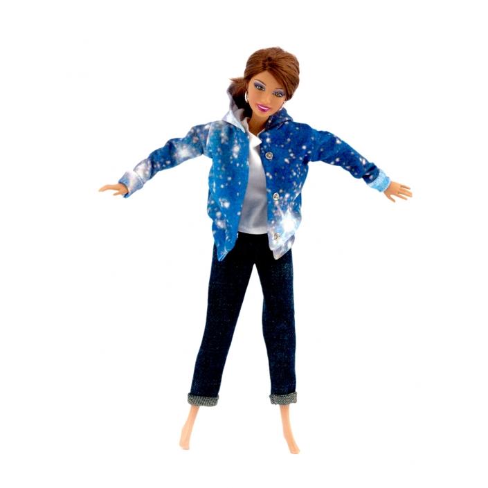 Zdjęcie produktu spodnie, bluzka i kurtka dla lalki Barbie