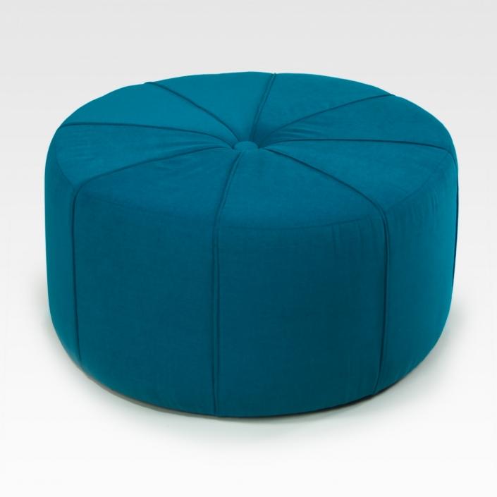 Zdjęcie produktu puf niebieski obity tkaniną
