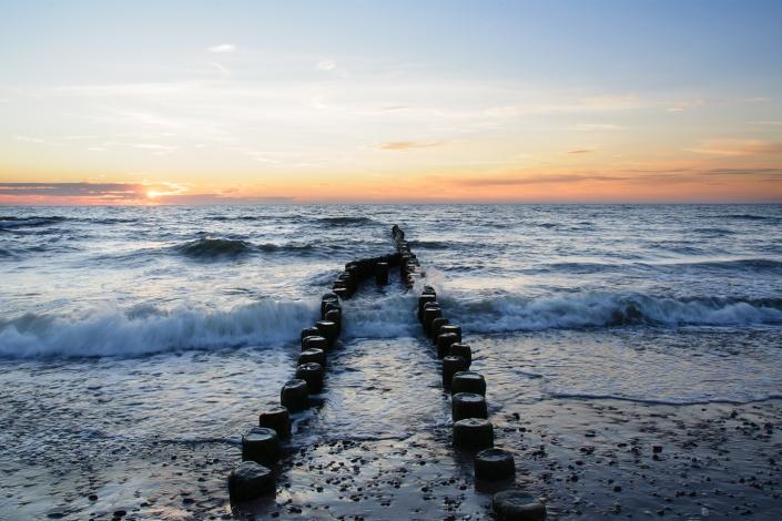 Fotografia krajobrazowa - zachód słońca nad morzem