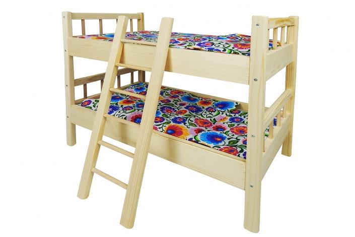 Wycięcie łóżeczka z tła, osadzenie na białym tle, poprawa kolorystyki, likwidacja zbędnych sęków