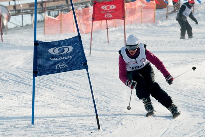 Zdjęcie sportowe - narciarskie zawody sportowe