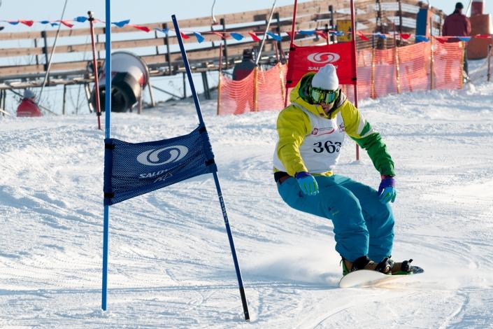 Fotografia sportowa - snowboardowe zawody sportowe