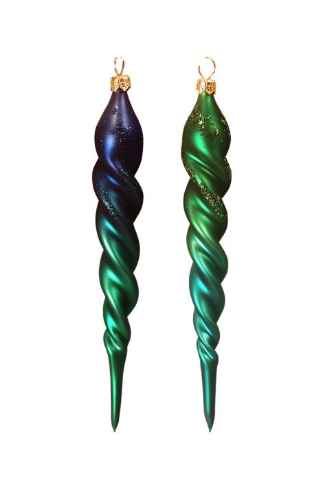 Zdjęcie produktu - bombki świderki w kolorach zielonym i niebieskim