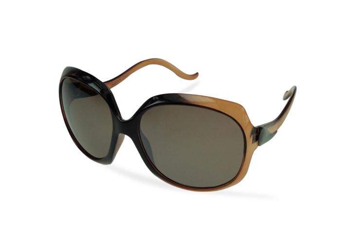 Zdjęcie produktu okulary przeciwsłoneczne damskie muchy czarno-brązowe